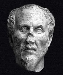 A bust of Plotinos