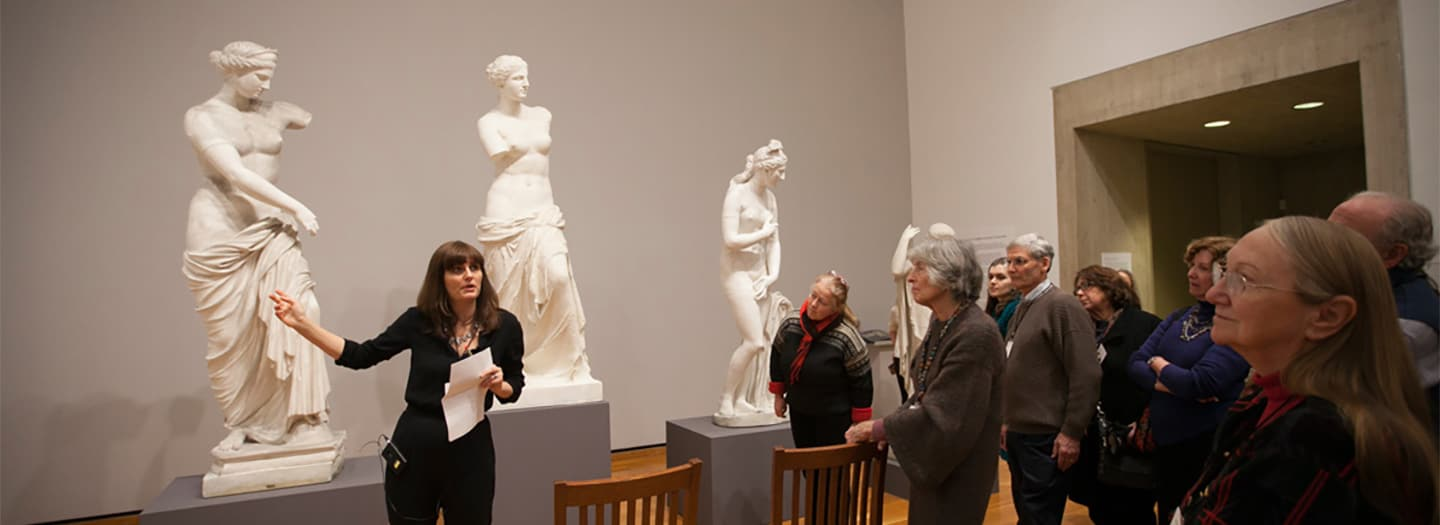 "Prof Platt speaks to alumni and trustees about our exhibition ""Cast and Present: Replicating Antiquity in the Museum and the Academy,"" held in the Johnson Museum as part of Cornell's Sesquicentennial celebrations, Spring 2015."